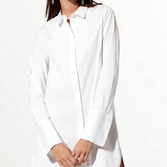 Aritzia Babaton button down shirt dress